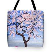 White Tree, Painting Tote Bag