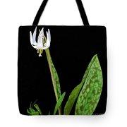 White Trout Lily Tote Bag