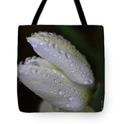 White Tulip Macro Tote Bag