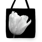 White Tulip Open Tote Bag