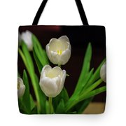 White Tulip Tote Bag