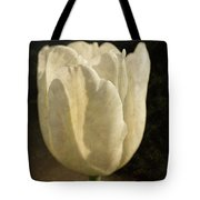 White Tulip With Texture Tote Bag