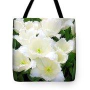 White Tulips Tote Bag
