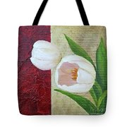 White Tulips Tote Bag by Phyllis Howard