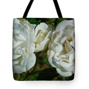 White Twin Flowers Tote Bag