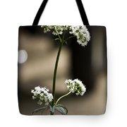 White Valerian Tote Bag