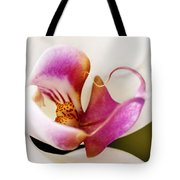 White Veil Orchid Tote Bag
