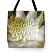 White Waratah Tote Bag