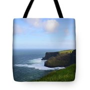 White Water At The Base Of The Cliff's Of Moher Tote Bag