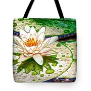White Water Lilies Flower Tote Bag