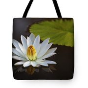 White Water Lilly Tote Bag