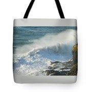 White Wave Sprays Tote Bag