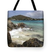 White Waves Crashing Tote Bag