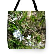 White Wild Flower Tote Bag