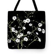 White Wild Flowers Tote Bag