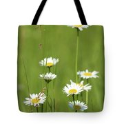 White Wild Flowers Nature Spring Scene Tote Bag