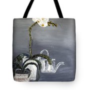 White Wild Orchid Tote Bag