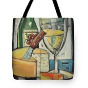 White Wine And Cheese Tote Bag