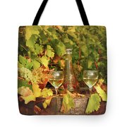 White Wine And Vineyard Autumn Season Tote Bag