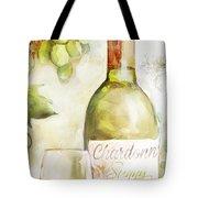 White Wine Watercolor Tote Bag