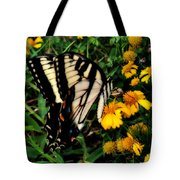 White Wing Butterfly Tote Bag