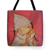 White Witch And Kitty Poo Tote Bag