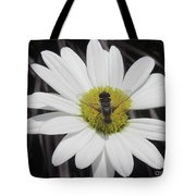 White With Bee Tote Bag
