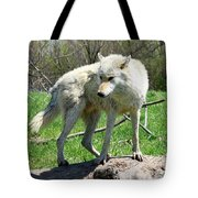 White Wolf 3 Tote Bag