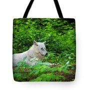 White Wolfe Tote Bag