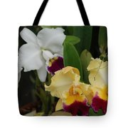 White Yellow Orchids Tote Bag