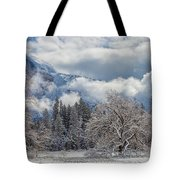 White Yosemite Tote Bag
