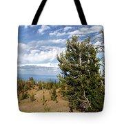 Whitebark Pine Trees Overlooking Crater Lake - Oregon Tote Bag