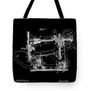 Whitehill Sewing Machine Patent 1885 Black Tote Bag