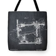 Whitehill Sewing Machine Patent 1885 Chalk Tote Bag