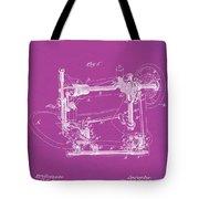 Whitehill Sewing Machine Patent 1885 Pink Tote Bag