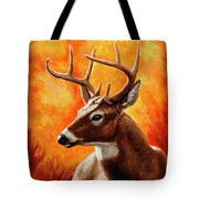 Whitetail Buck Portrait Tote Bag