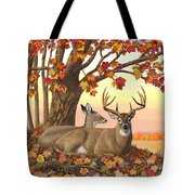Whitetail Deer - Hilltop Retreat Tote Bag by Crista Forest