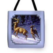 Whitetail Deer Painting - Startled Tote Bag