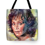 Whitney Houston Portrait Tote Bag