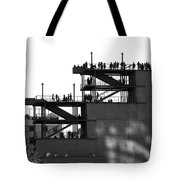 Whitney Silhouettes Tote Bag by Rona Black