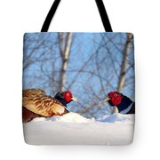Who Blinks First? Tote Bag