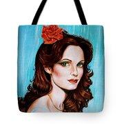 Flower In Her Hair Tote Bag
