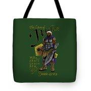 Who Shall Rouse Judah-yellow Trim Tote Bag