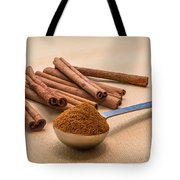 Whole Cinnamon Sticks With A Heaping Teaspoon Of Powder Tote Bag