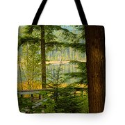 Whonnock Lake Through The Trees Tote Bag