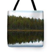 Whooper Swans Panorama  Tote Bag