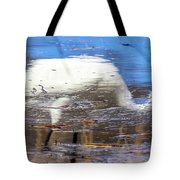 Whooping Crane Reflection Tote Bag