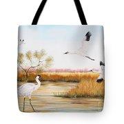 Whooping Cranes-jp3151 Tote Bag