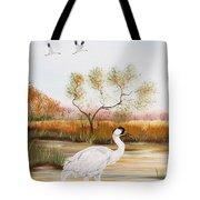 Whooping Cranes-jp3152 Tote Bag