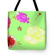 Whoosh Of Flowers Tote Bag